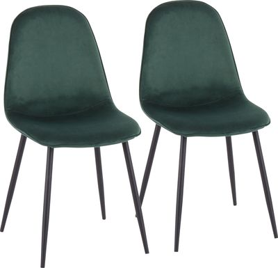 Kernack II Green Side Chair, Set of 2