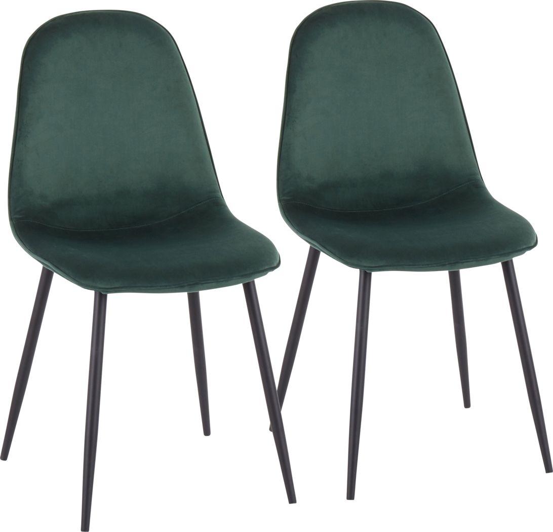 Kernack II Green Side Chair, Set of 2
