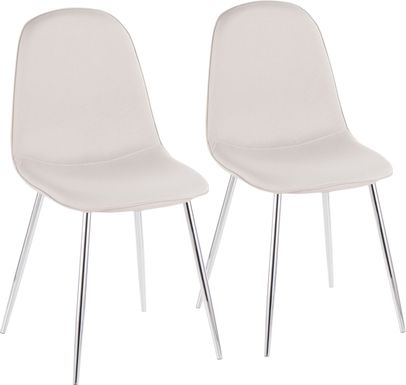 Kernack III Beige Side Chair, Set of 2