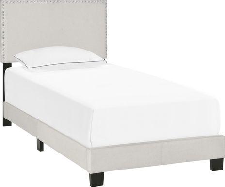 Kernite Light Gray Twin Bed