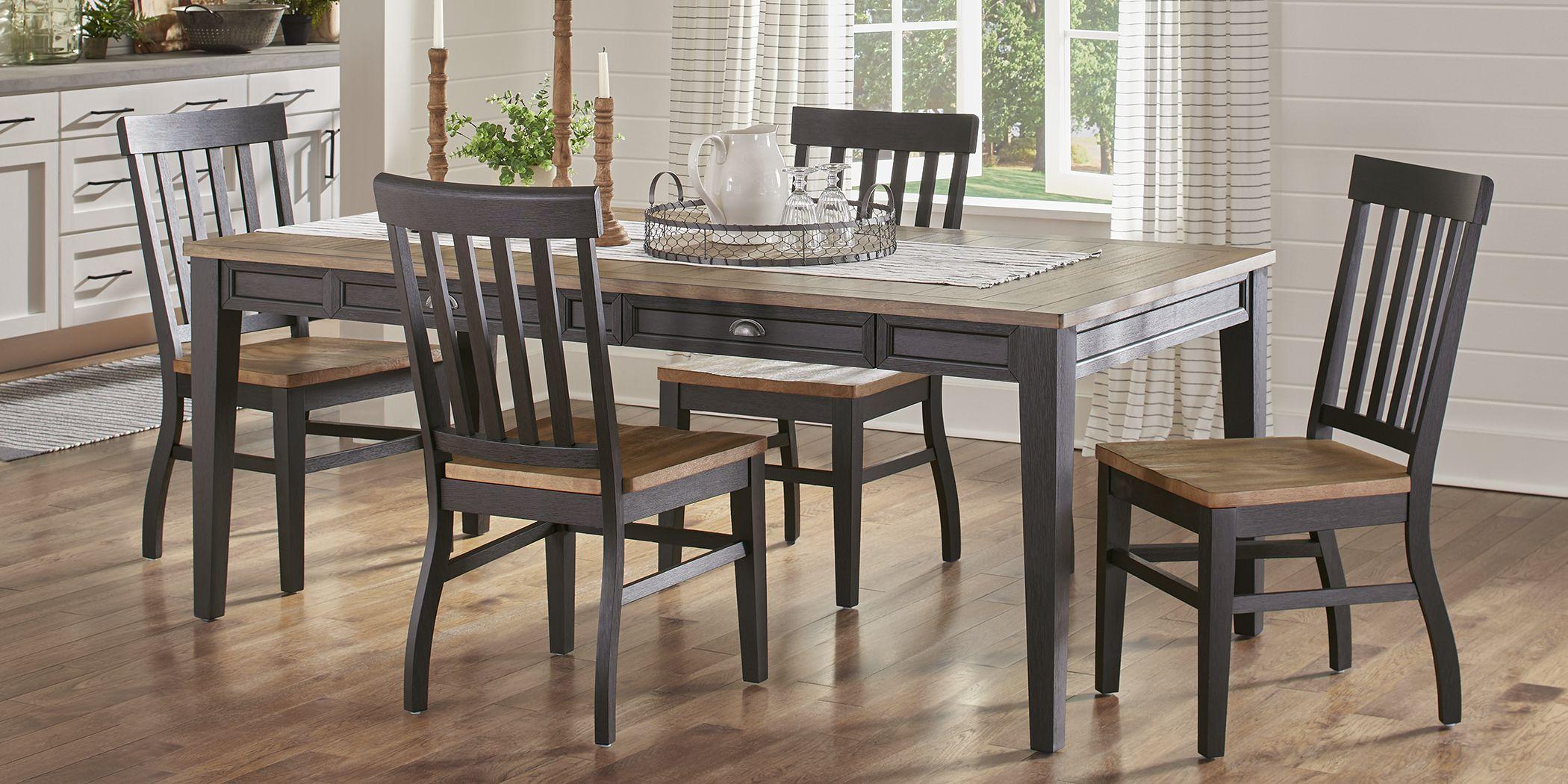 Keston Black 5 Pc Rectangle Dining Room