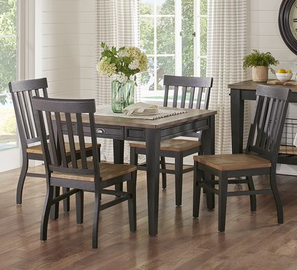 Keston Black 5 Pc Square Dining Room