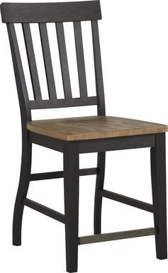 Keston Black Counter Height Stool