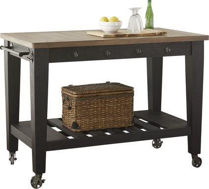 Keston Black Kitchen Cart