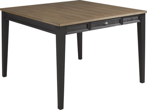 Keston Black Square Counter Height Dining Table
