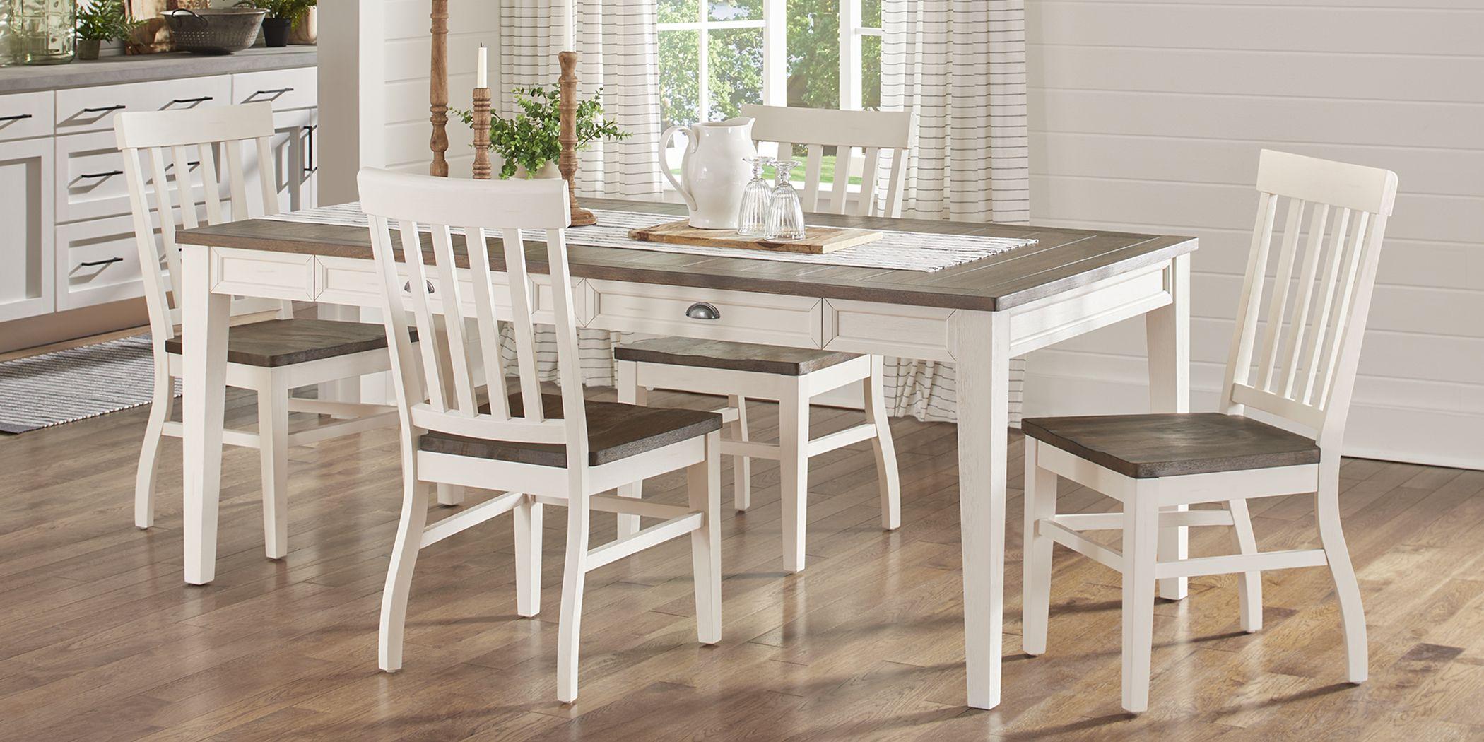 Keston White 5 Pc Rectangle Dining Room