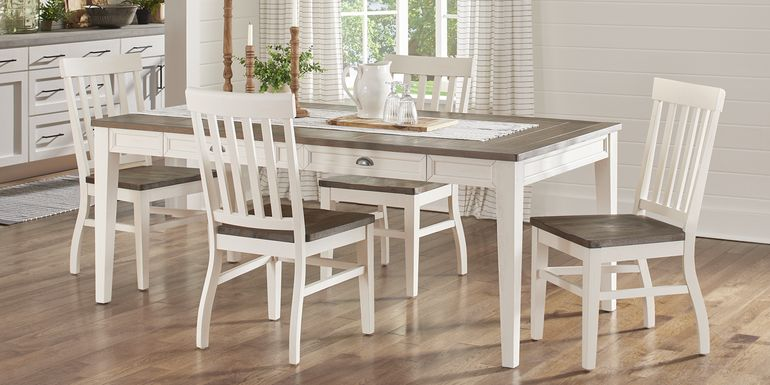 Keston White 5 Pc Rectangle Dining Room