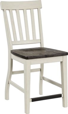 Keston White Counter Height Stool