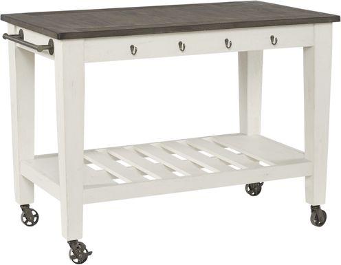 Keston White Kitchen Cart