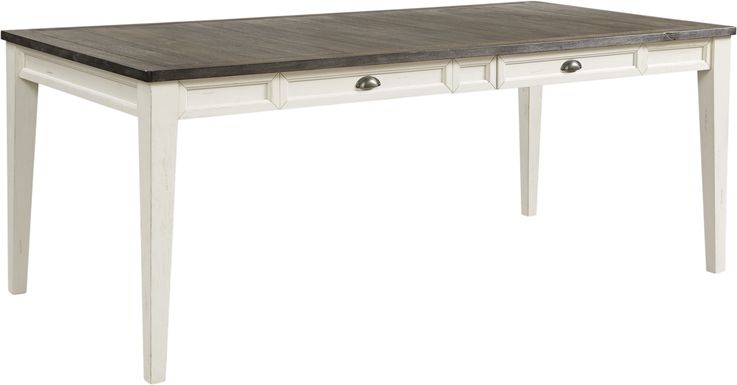 Keston White Rectangle Dining Table