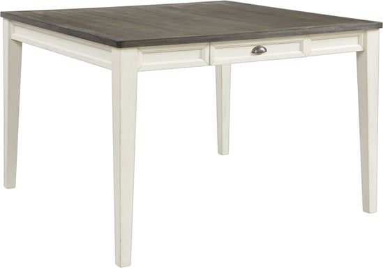 Keston White Square Counter Height Dining Table