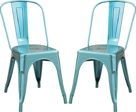 Kibbe Blue Side Chair (Set of 2)