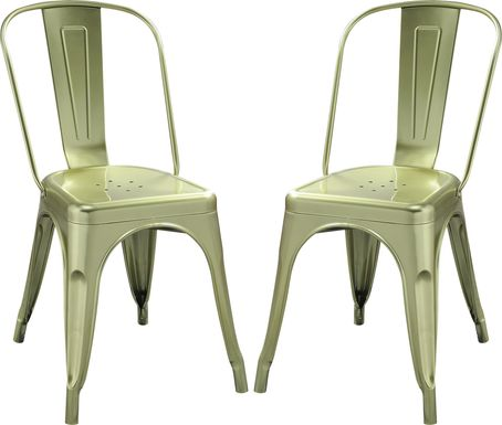 Kibbe Green Side Chair (Set of 2)