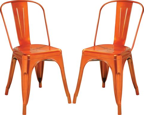 Kibbe Orange Side Chair (Set of 2)