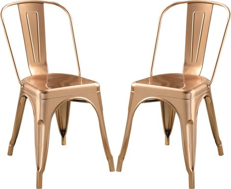 Kibbe Rose Gold Side Chair (Set of 2)