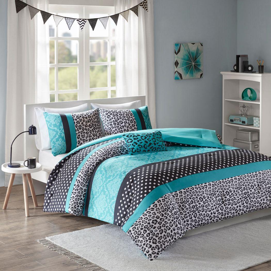 Kids Adrastea Teal 3 Pc Twin Comforter Set