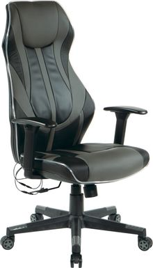 Kids Aeryn Black/Gray LED Gaming Chair