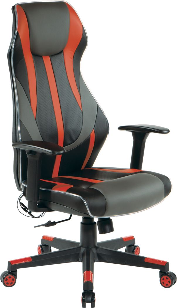 Kids Aeryn Black/Red LED Gaming Chair