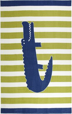Kids Alligator Way Navy 5' x 8' Rug