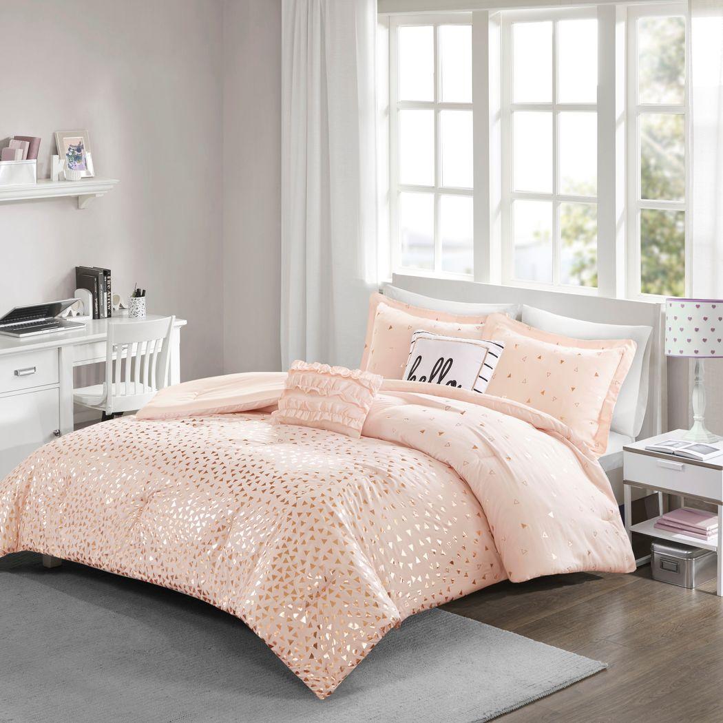 Kids Amedee Blush 4 Pc Twin Comforter Set