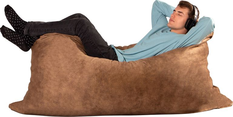 Kids Amelle Chestnut Large Bean Bag and Floor Pillow