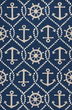 Kids Anchor Chain Navy 5 x 7'6 Rug