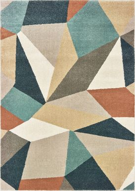 Kids Anpona Blue 5' x 7' Rug