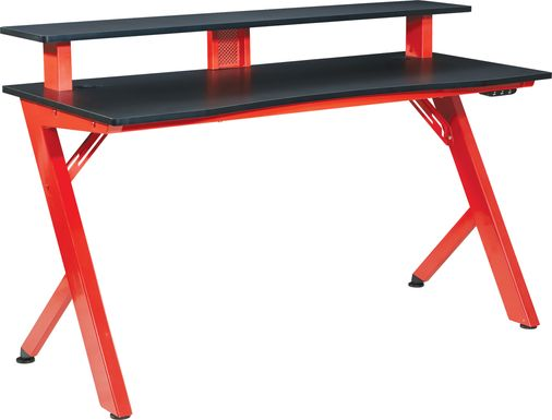 Kids Antinous Red 54 in. Gaming Desk