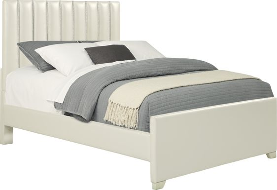 Kids Anya White 3 Pc Full Upholstered Bed