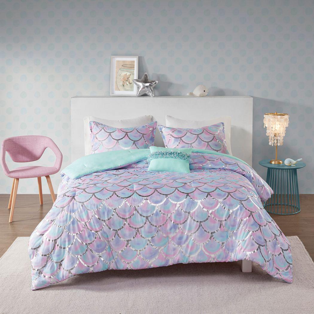 Kids Aquapolis Purple 3 Pc Twin XL Comforter Set