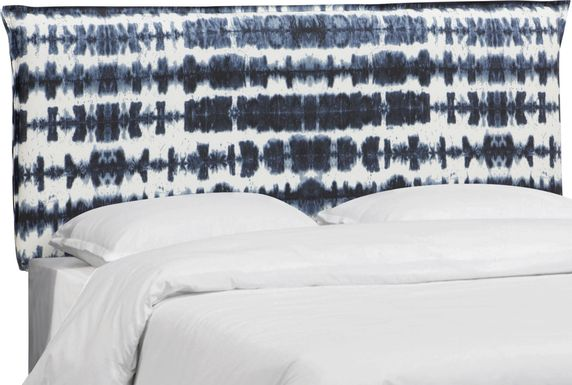 Kids Aravis Navy Full Upholstered Headboard