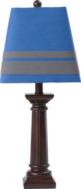 Kids Ares Pillar Blue and Gray Lamp