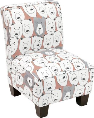 Auggie Pink Toddler Accent Chair