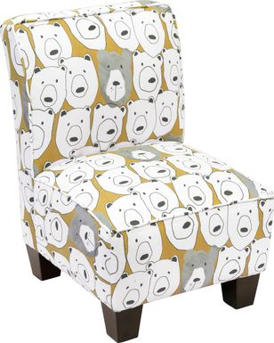 Auggie Yellow Toddler Accent Chair