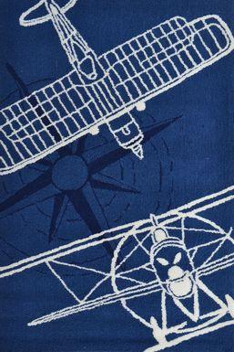 Kids Aviator Sketch Navy 2'8 x 4'8 Rug