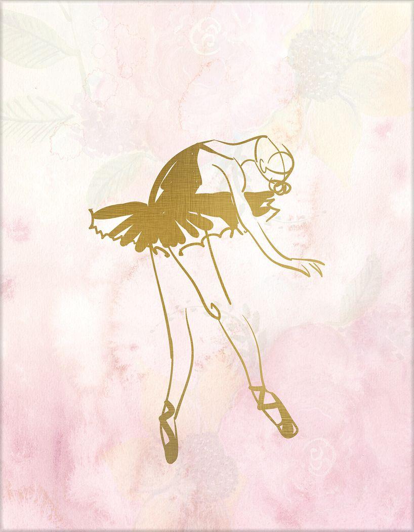 Kids Ballerina Ballet Pose Part II Artwork