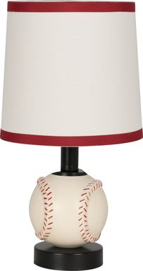 Kids Baseball First White Lamp