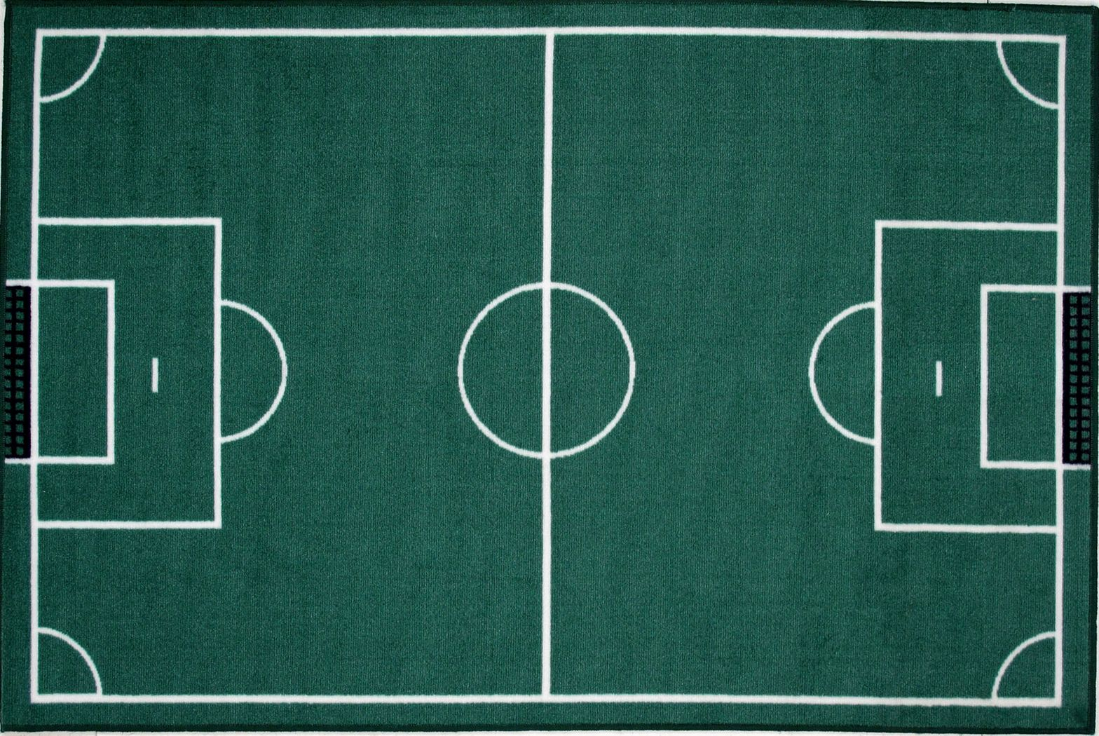 Kids Basic Training Green Soccer Field 3'2 x 4'8 Rug