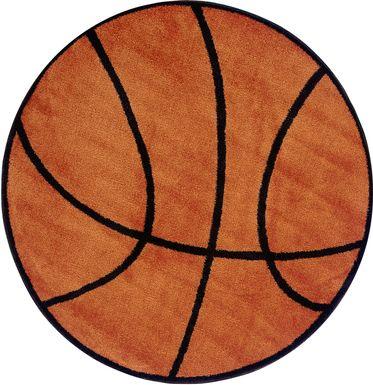 Kids Basketball 39 in. Round Rug