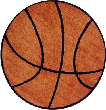 Kids Basketball 39 in. Round Rug