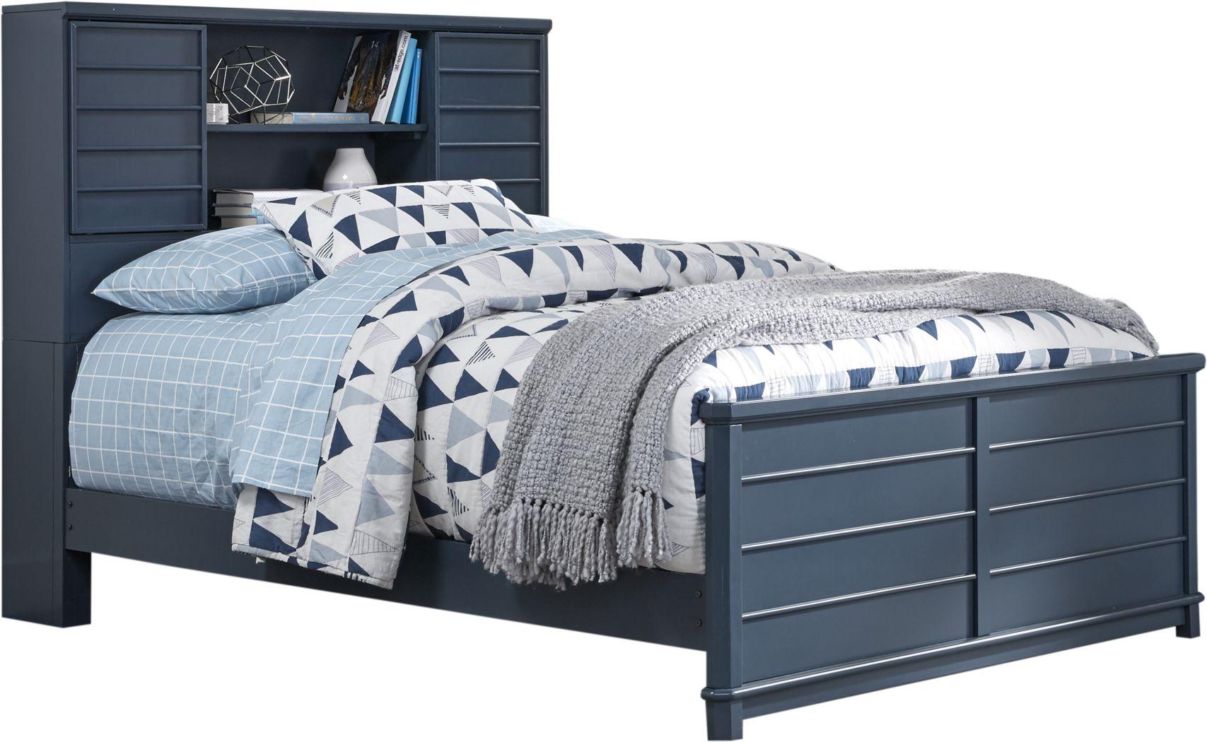 Kids Bay Street Blue 3 Pc Full Bookcase Bed