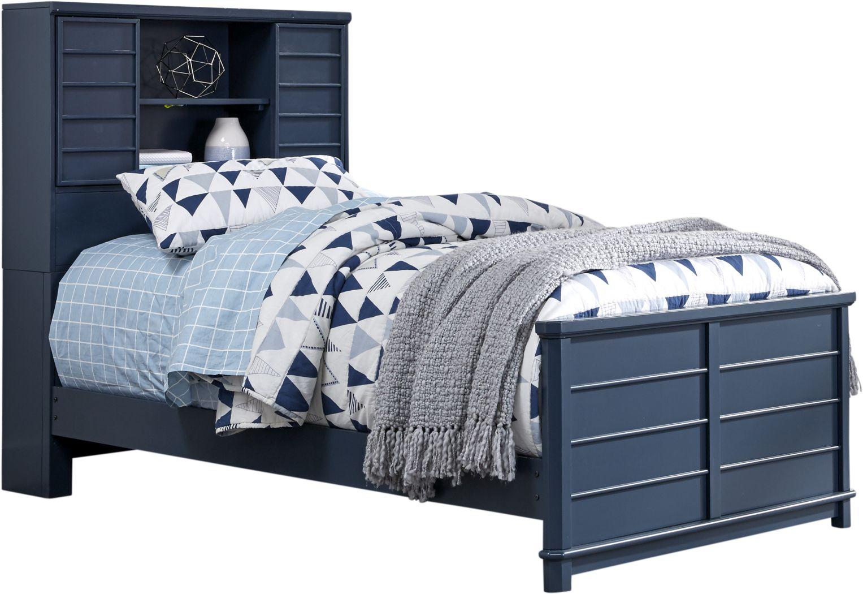 Kids Bay Street Blue 3 Pc Twin Bookcase Bed