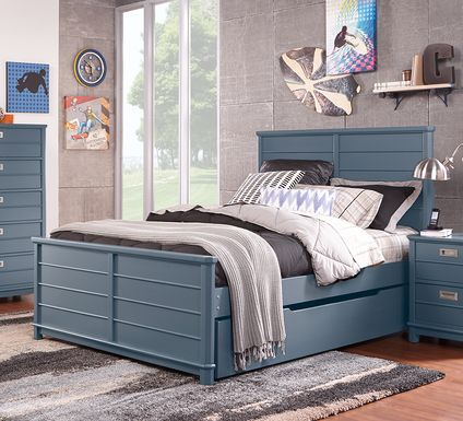Kids Bay Street Blue 5 Pc Full Panel Bedroom