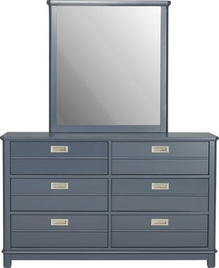Kids Bay Street Blue Dresser & Mirror Set