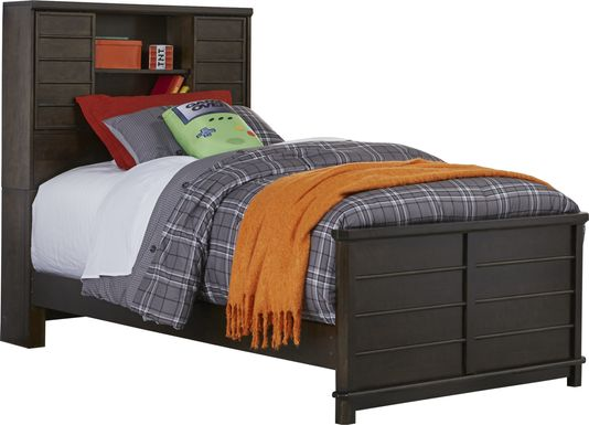 Kids Bay Street Charcoal 3 Pc Twin Bookcase Bed