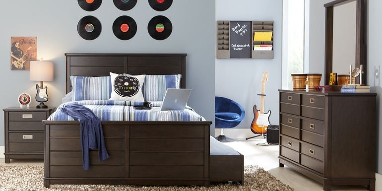 Kids Bay Street Charcoal 5 Pc Full Panel Bedroom