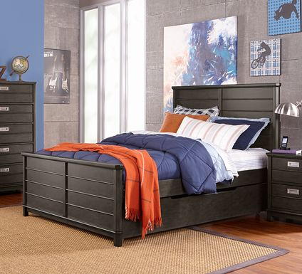 Kids Bay Street Charcoal 5 Pc Full Panel Bedroom