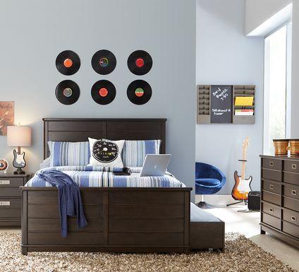 Kids Bay Street Charcoal 5 Pc Twin Panel Bedroom
