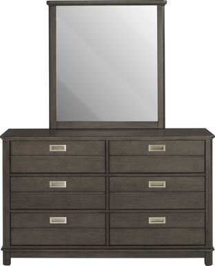 Kids Bay Street Charcoal Dresser & Mirror Set