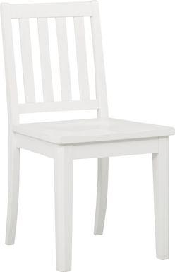Kids Bay Street White Desk Chair